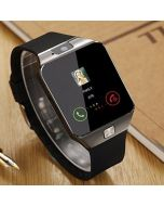 DZ09 Black Bluetooth Smart Watch Compatible with 4G Phone with Camera and Sim Card Support