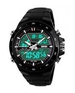 Skmei 1016 Black Analogue Digital Black Dial Men's Watch