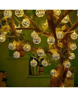 Nano 30LED Moroccan Metal Fairy String Lights Christmas Tree and Diwali Party Hanging Light for Festival Indoor Outdoor Decorations