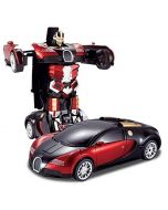 Nord Battery Operated Converting Car to Robot, Robot to Car with Light and Sound for Kids Indoor and Outdoor 3 Year, Pack of 1, Multicolor