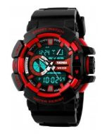 SKMEI 1117 Black Strap Analog Digital Black Dial Men's Watch AD