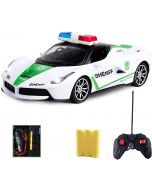 Nord Rechargeable Remote Control Police Car with Lights, High Speed RC Vehicle Toy for Kids