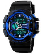 SKMEI 1117 Black Strap Analog-Digital Black Dial Men's Watch