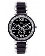 IIK Collection Black Chain Analog Black Silver Dial Women's Watch