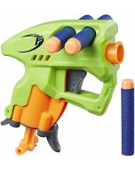 NanoFire Blaster, Green Single-Shot Blaster with Dart Storage, Includes 3 Elite Darts, For Kids Ages 8 and up