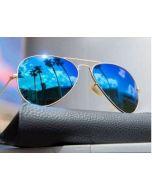 V Blue Unisex Sunglass For Men, Women