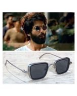 Silver Smooth Leg Covers Lightweight Square Kaabir Singh Sunglasses for Men