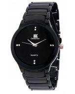 IIK Collection Black Chian Analogue Black Dial Men's Watch 55654