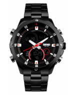 SKMEI 1146 Black Chain Casual Analog-Digital Black Dial Men's Watch