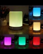 NVM LED Bluetooth Speaker Touch Lamp, Wireless Speaker Light, USB Rechargeable Portable